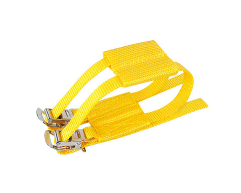 1 Pc Cycling Track Fixie Bike Pedals Nylon Double Toe Straps - Yellow