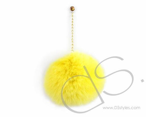 Yellow Fur Ball Headphone Jack Plug