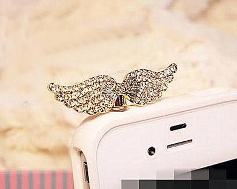 Bling Crystal Headphone Jack Plug - Wing
