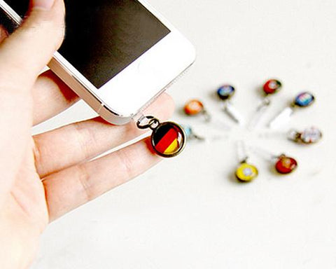 World Cup Series Handmade Headphone Jack Plug - France