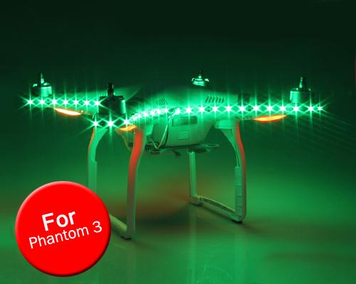 DJI Phantom 3 Quadcopter Decoration Light Strap LED Strip - Green