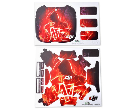 DJI Phantom 3 Quadcopter Decoration Skin Decal Sticker - Jazz Fire