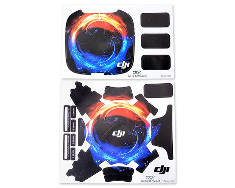 DJI Phantom 3 Quadcopter Decoration Skin Decal Sticker - Ice Fire