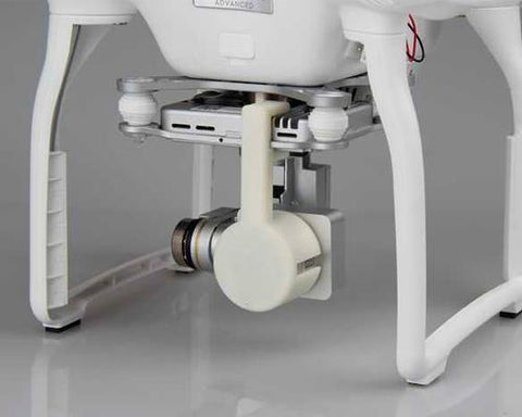 DJI Phantom 3 Quadcopter Camera Lock Lens Cap Protective Cover - White