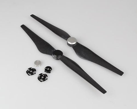 DJI Inspire 1 Pair Carbon Fiber 1345s Propellers and Rotor Adapters