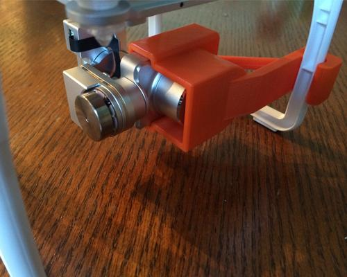 DJI Phantom 2 Vision+ Gimbal Lock Camera Lens Protective Cover -Orange