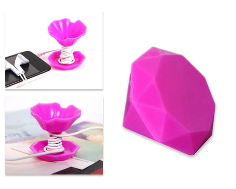 Diamond Cell Phone Stand Holder - Magenta