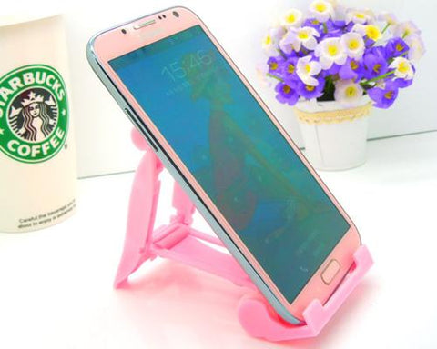 Universal Portable Folding Mobile Phone Stand Holder - Pink