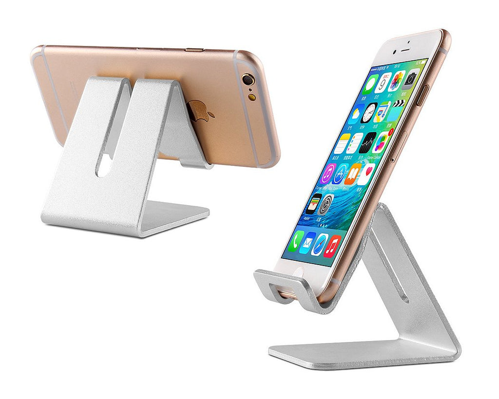 Aluminum Alloy Phone and Tablet Holder - Silver