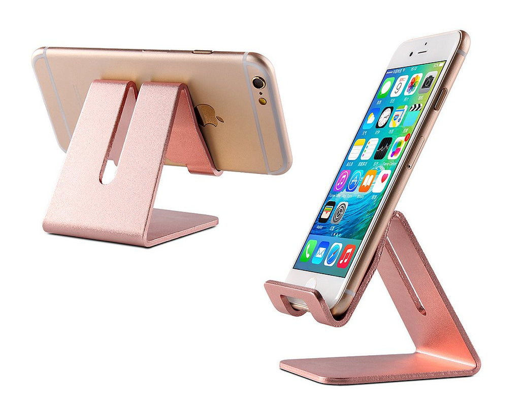 Aluminum Alloy Phone and Tablet Holder - Rose Gold