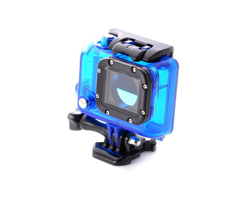 GoPro Waterproof Replacement Housing for Hero 3/ 3+/ 4 Camera - Blue