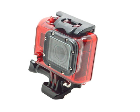 GoPro Waterproof Replacement Housing for Hero 3/ 3+/ 4 Camera - Red