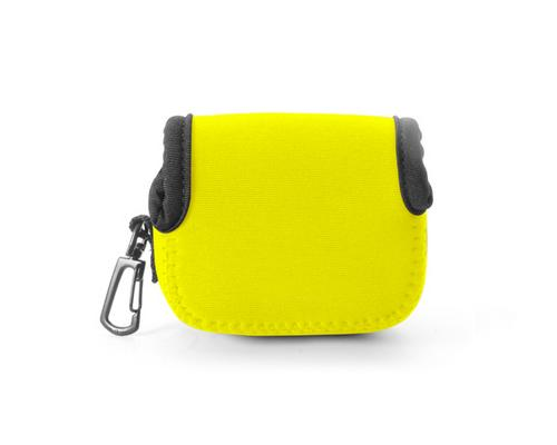GoPro Small Storage Inner Protective Bag w/Hook for Hero Camera-Yellow