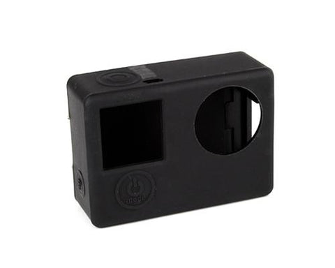 GoPro Protective Silicone Case Cover Housing for Hero 4 Camera - Black