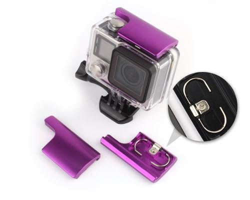 GoPro Replacement Rear Snap Latch Housing Lock for Hero 3+/4 - Purple