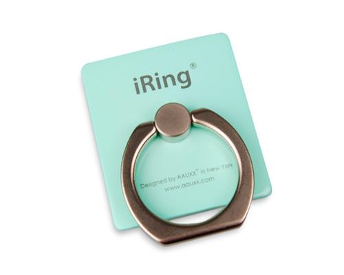 iRing Universal Bunker Ring Grip Holder Cell Phone Stand - Mint