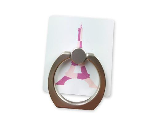 iRing Universal Bunker Ring Grip Holder Cell Phone Stand - Pink Tower