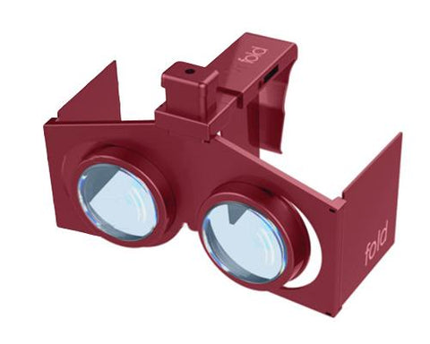 VR Fold V1 3D Virtual Reality Glasses - Red