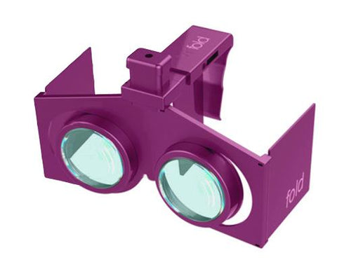 VR Fold V1 3D Virtual Reality Glasses - Purple