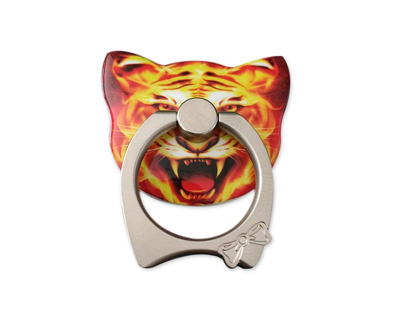 Cat Face Series Universal Metal Ring Grip Stand - D