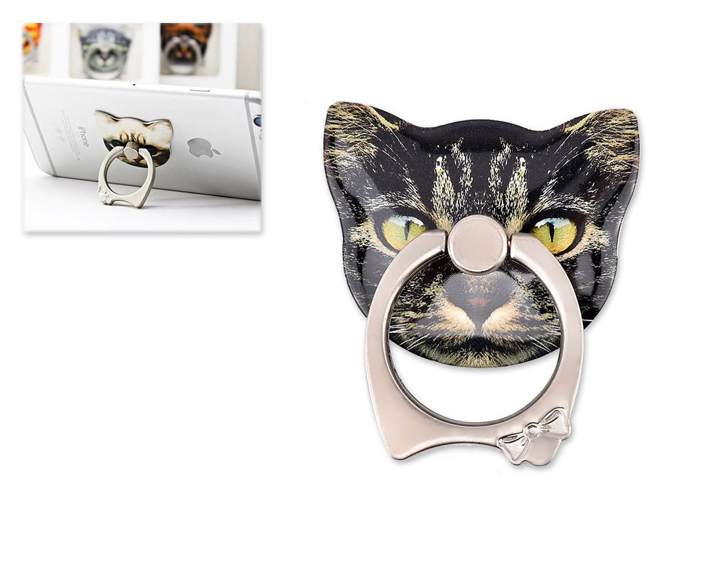 Cat Face Series Universal Metal Ring Grip Stand - G