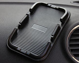 Multiple Non-Slip Mat Car Pad Holder for Mobile Phones and GPS - Black