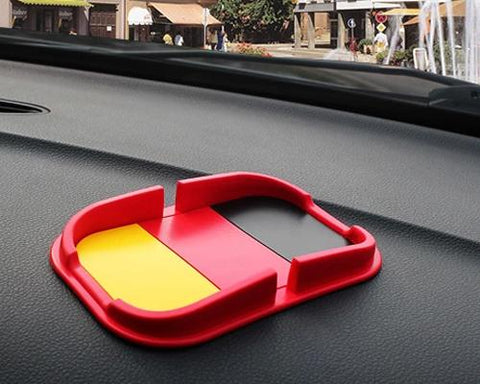 Non-Slip Mat Car Pad Holder for Mobile Phones and GPS - German Flag