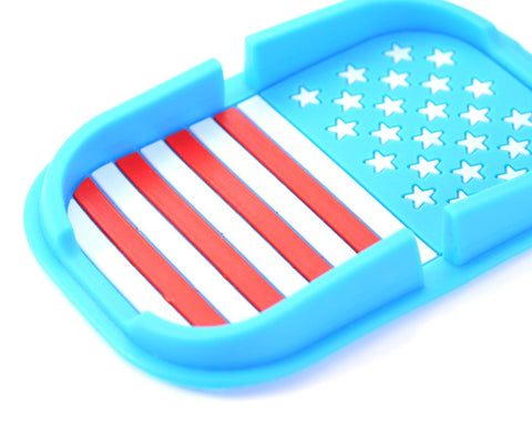 Non-Slip Mat Car Pad Holder for Mobile Phones and GPS - American Flag