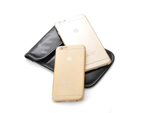 Simple PU Leather Anti-Radiation/Signal Blocking Pouch for Smartphone