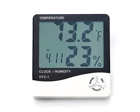 Large Display Digital Alarm Clock with Temperature and Humidity Meter