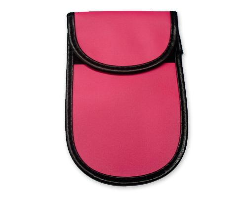 Anti-Radiation/Signal Blocking Leather Pouch Case for Smartphone-Pink