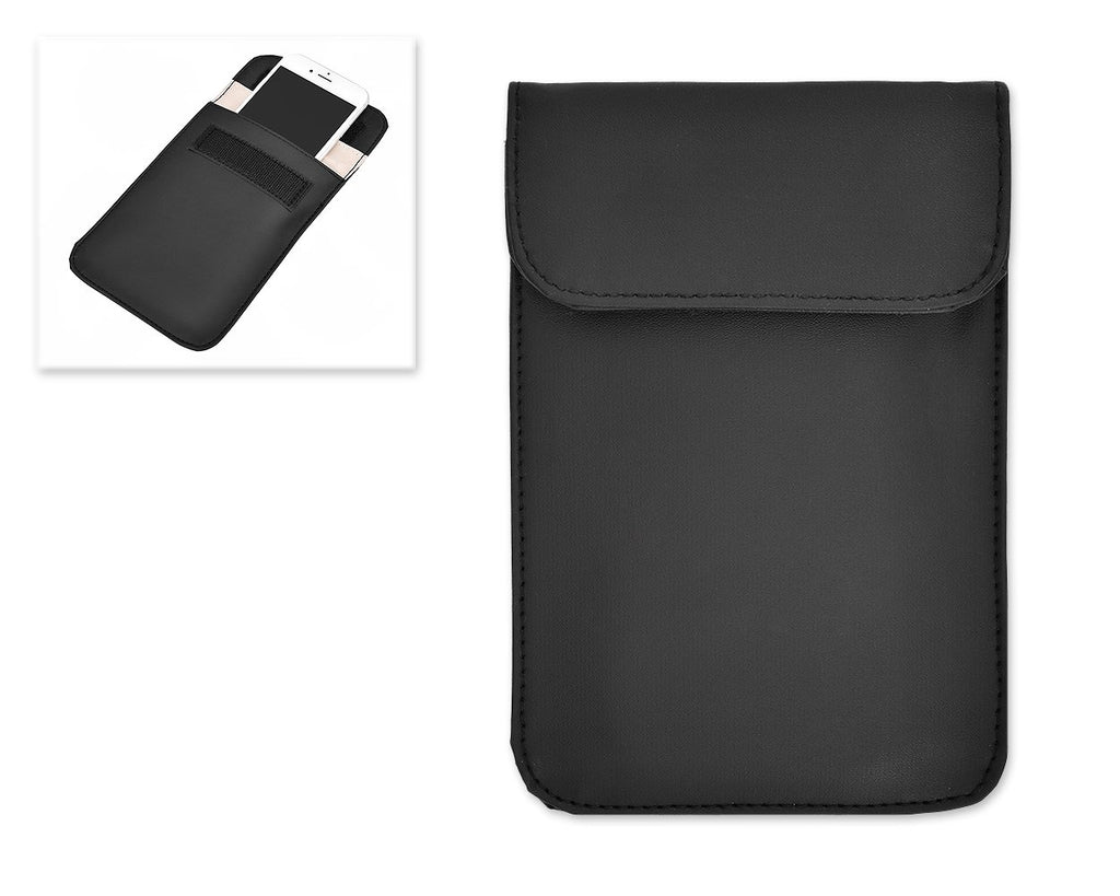 PU Leather Anti-Radiation/Signal Blocking Pouch for Smartphone - Black