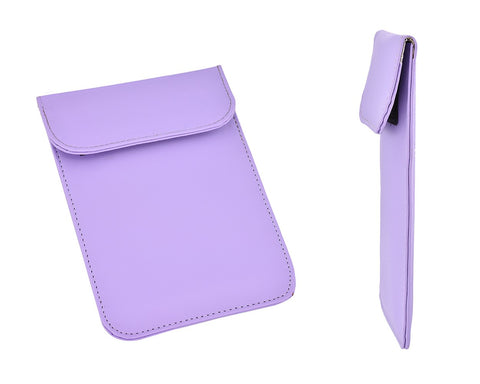PU Leather Anti-Radiation/Signal Blocking Pouch for Smartphone-Purple