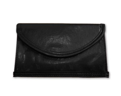 Leather Cell Phone Anti-Radiation Signal Blocker Pouch Case Bag-Black