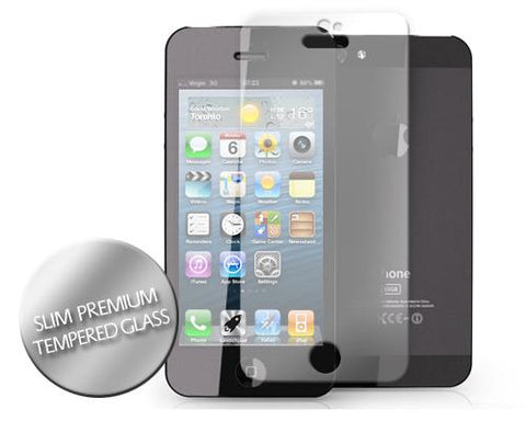 iPhone 5 and 5S Slim Premium Tempered Glass Screen Protector