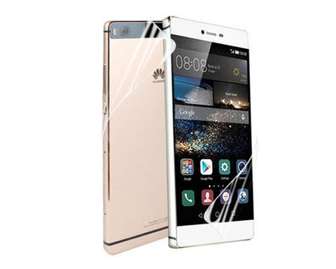 Premium Huawei P8 Front and Back Screen Protector - Anti-Glare