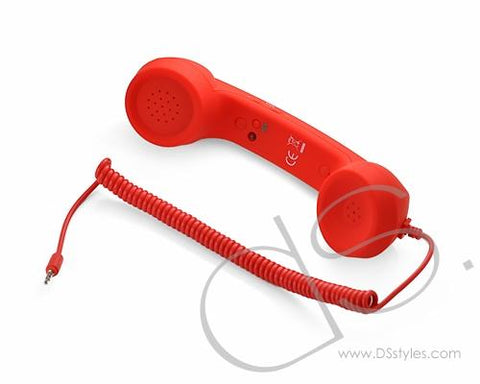 Retro Phone Handset 3.5mm Volume Adjustable For Android/IOS Mobile Phone