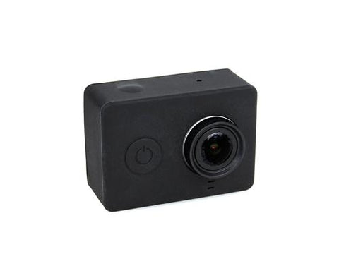 Protective Silicone Case Cover for Xiaomi Yi Action Camera - Black