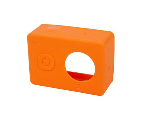 Protective Silicone Case Cover for Xiaomi Yi Action Camera - Orange