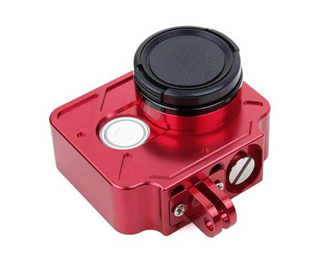 Protective Aluminum Case w/Lens Cap for Xiaomi Yi Action Camera -Red