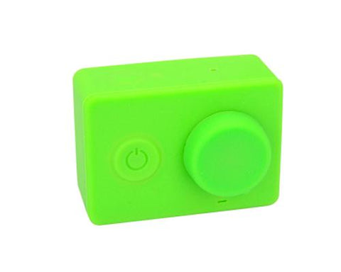 Protective Silicone Case/ Lens Cap for Xiaomi Yi Action Camera - Green