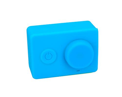 Protective Silicone Case/ Lens Cap for Xiaomi Yi Action Camera - Blue