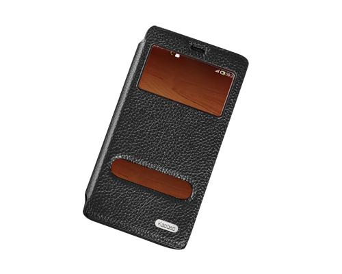 Eyelet Series Amazon Fire Phone Flip Leather Case - Black