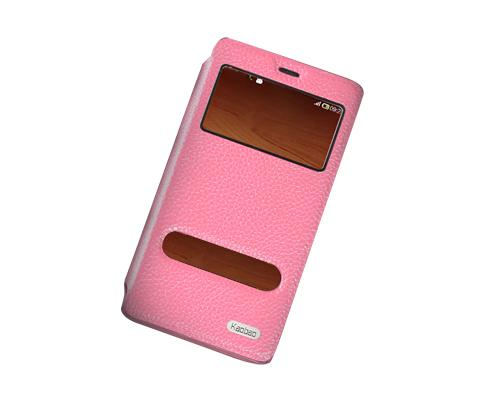 Eyelet Series Amazon Fire Phone Flip Leather Case - Pink