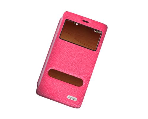 Eyelet Series Amazon Fire Phone Flip Leather Case - Magenta