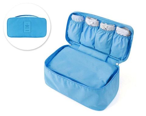Travel Underwear Organizer Pouch - Blue