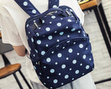 Dot Print Casual Style School Backpack - Blue
