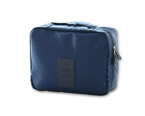 Multi-functional Nylon Travel Makeup Bag - Navy
