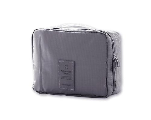 Multi-functional Nylon Travel Makeup Bag - Gray