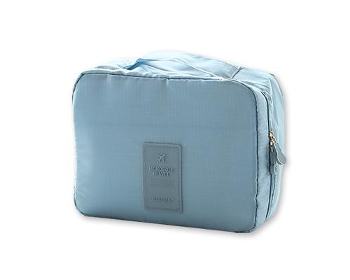 Multi-functional Nylon Travel Makeup Bag - Ice Blue